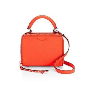 Rebecca Minkoff Orange Box Leather Crossbody